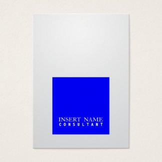 Berufliche elegante blaue quadratische moderne Jumbo-Visitenkarten