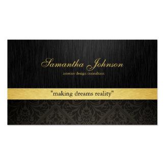 Berufliche elegante Damast-Geschäfts-Karten Visitenkartenvorlage