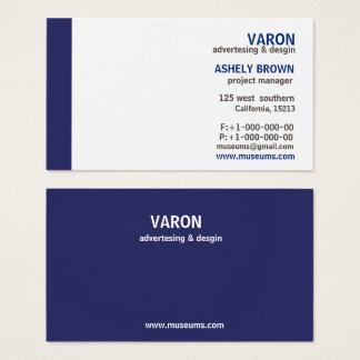 Berufliche elegante einfache blaue Geschäfts-Karte Visitenkarte