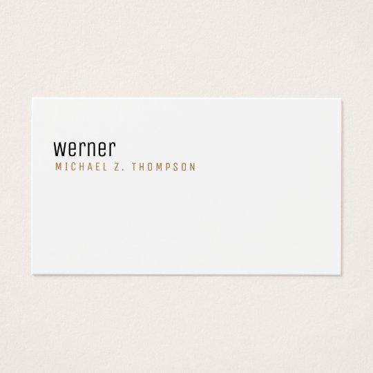 berufliche elegante einfache weiße Ebene Visitenkarte