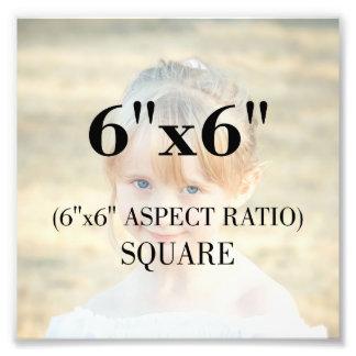 Berufliche Foto-Schablone 6 x 6 Zoll-Quadrat Fotodruck