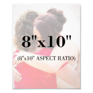 Berufliche Foto-Schablone 8 x 10 Längenverhältnis Fotodruck