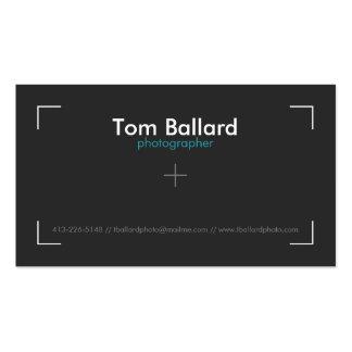 Berufliche Fotograf-Geschäfts-Karte Visitenkarten