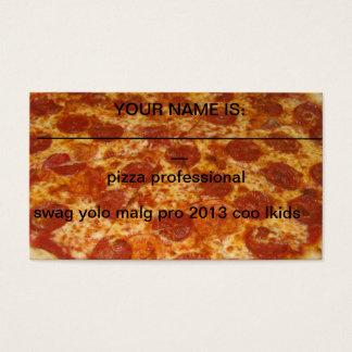 berufliche Geschäftskarten der Pizza Visitenkarten