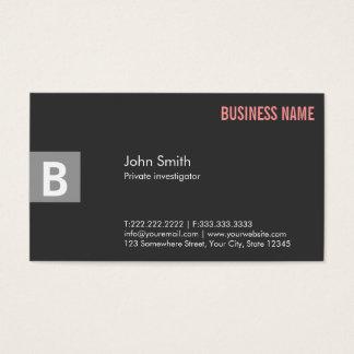 Berufliche graue Forscher-Geschäfts-Karte Visitenkarte