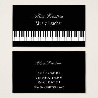 Berufliche Klavier-Schlüssel des Musik-Lehrer-| Visitenkarte