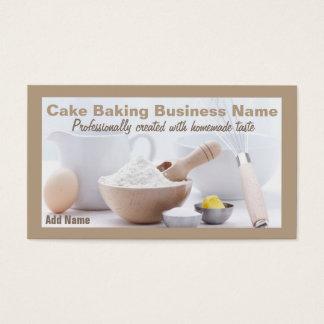 Berufliche Kuchen-Backen-Geschäfts-Karten Visitenkarte