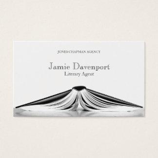Berufliche literarische Agent-Buch-Geschäfts-Karte Visitenkarte