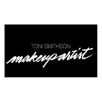 Berufliche Make-upkünstler M.U.A.-Geschäfts-Karte Visitenkarten Vorlagen