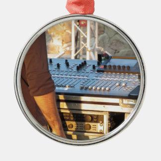 Berufliche mischende Audiokonsole Rundes Silberfarbenes Ornament