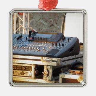Berufliche mischende Audiokonsole Silbernes Ornament