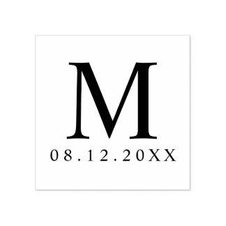 Berufliche moderne Monogramm-Gastgeschenk Hochzeit Gummistempel