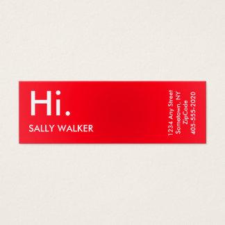 Berufliche moderne rote Minigeschäftskarten Mini-Visitenkarten