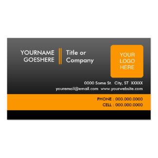 berufliche Orange 2: (2-sided): Visitenkarten
