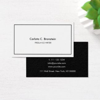 Berufliche unbedeutende Black&White Visitenkarte