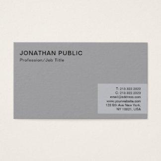 Berufliche unbedeutende moderne elegante graue visitenkarte
