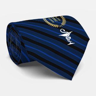 Berufliche Veterinärschüssel von Hygenia Blau Bedruckte Krawatten