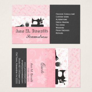 Berufliche weibliche handgemachte Mode Moda Visitenkarte