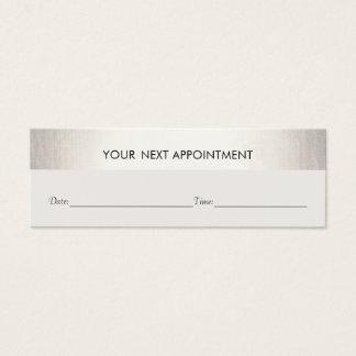 Berufliche weiße moderne silberne Verabredung Mini Visitenkarte