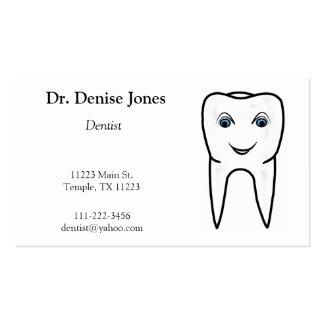 Berufliche Zahnarzt-Geschäfts-Karte Visitenkarten Vorlagen