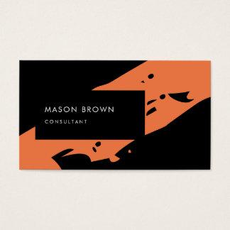 Beruflicher Berater-moderne schwarze Orange Visitenkarte