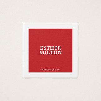 Beruflicher einfacher eleganter roter weißer quadratische visitenkarte