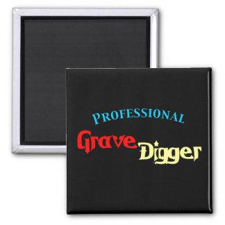 Beruflicher ernster Gräber Quadratischer Magnet