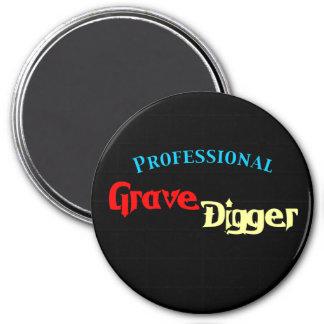 Beruflicher ernster Gräber Runder Magnet 7,6 Cm