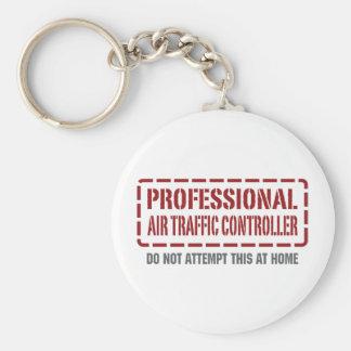 Beruflicher Fluglotse Standard Runder Schlüsselanhänger