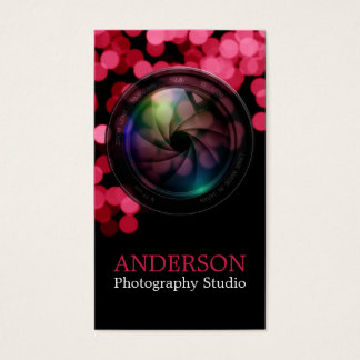 Beruflicher Fotograf-vertikale Geschäfts-Karte a Visitenkarten
