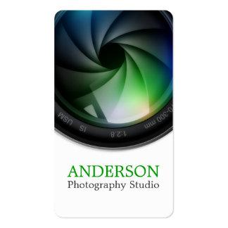Beruflicher Fotograf-vertikale Geschäfts-Karte Visitenkarten
