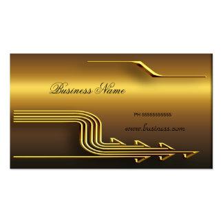 Beruflicher Goldblick-elegantes nobles Geschäft Visitenkartenvorlagen