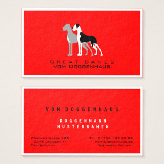 Beruflicher großer Däne-Boston-Umhang Businesscard Visitenkarte