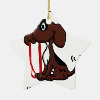 Beruflicher Hundewanderer Keramik Ornament