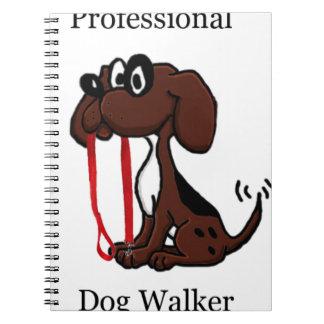 Beruflicher Hundewanderer Spiral Notizblock