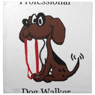Beruflicher Hundewanderer Stoffserviette