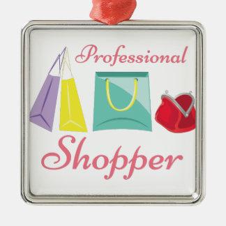 Beruflicher Käufer Quadratisches Silberfarbenes Ornament