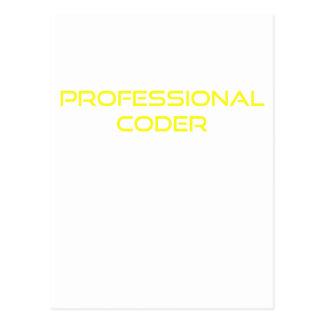 Beruflicher Kodierer Postkarte