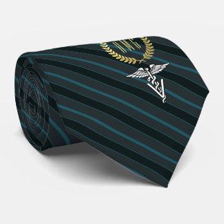 Beruflicher mit Monogramm Veterinärschiefer Bedruckte Krawatten