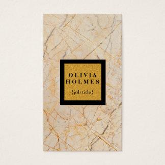 Beruflicher moderner eleganter Marmor Visitenkarte