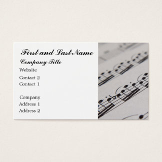 Beruflicher Musiker Visitenkarte