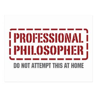 Beruflicher Philosoph Postkarte