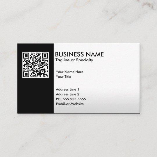 Beruflicher Qr Code Visitenkarte Zazzle De