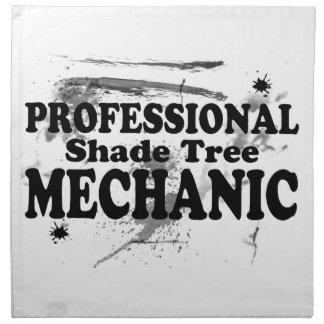 Beruflicher Schatten-Baum-Mechaniker Stoffserviette
