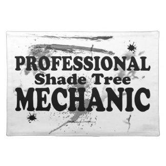 Beruflicher Schatten-Baum-Mechaniker Tischset