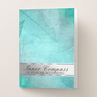 Berufliches Blätter-Blatt-aquamarine silberne Bewerbungsmappe