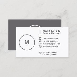 Berufliches einfaches einfaches Graues und weiß Visitenkarte
