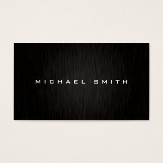 Berufliches einfaches elegantes modernes schwarzes visitenkarten