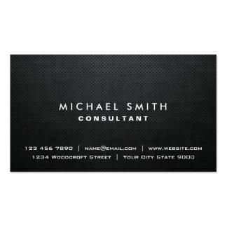 Berufliches einfaches elegantes schwarzes modernes visitenkarten