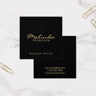 Berufliches einfaches modernes Schwarzes und Gold Quadratische Visitenkarte
